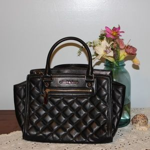 Michael Kors Selma Quilted Leather Black Satchel